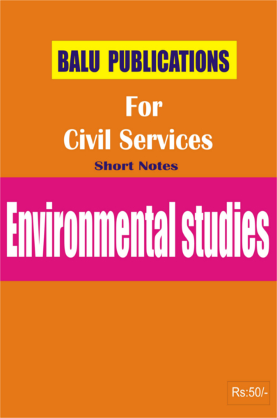 Environmental Studies For Civil Services
