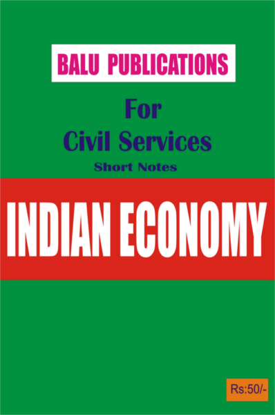 Indian Economy For Civil Services