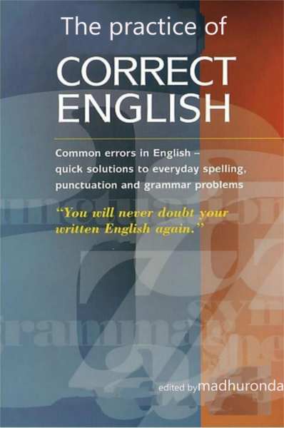 The Practice Of Correct English