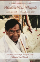 A Celebration Of Life Bhaskara Rao Mutyala by Dr. Vanguri Chitten Raju