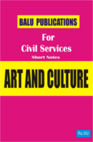 Art And Culture For Civil Services by Academic Team of Balu Publications