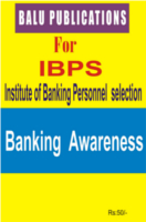 Banking Awareness For IBPS by Academic Team of Balu Publications