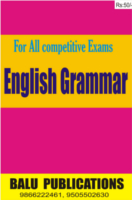 English Grammar Balu Publications by Academic Team of Balu Publications