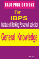 General Knowledge For IBPS by Academic Team of Balu Publications