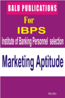 Marketing Aptitude For IBPS by Academic Team of Balu Publications