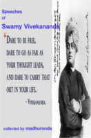 Speeches Of Swamy Vivekananda by Ronda Madhu