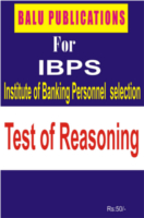 Test Of Reasoning For IBPS by Academic Team of Balu Publications
