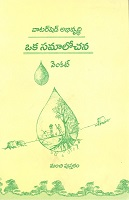 Watershed Abhivrudhi Oka Samalochana by Venkat